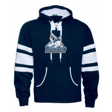 Navy Varsity Hockey Hood with Thunder Logo