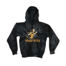 Waupun Warriors Black Tie Die Hooded Sweatshirt