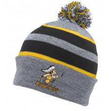 Waupun Warrior knit pom hat
